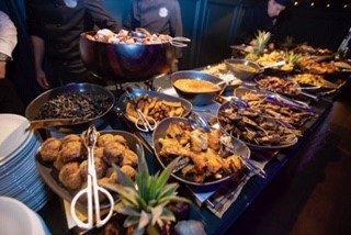 buffet africain - afrikaans buffet traiteur aromate - huwelijk mariage feestzaal salle de mariage