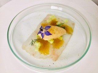 carpaccio langoustine - traiteur aromate - huwelijk mariage feestzaal salle de mariage