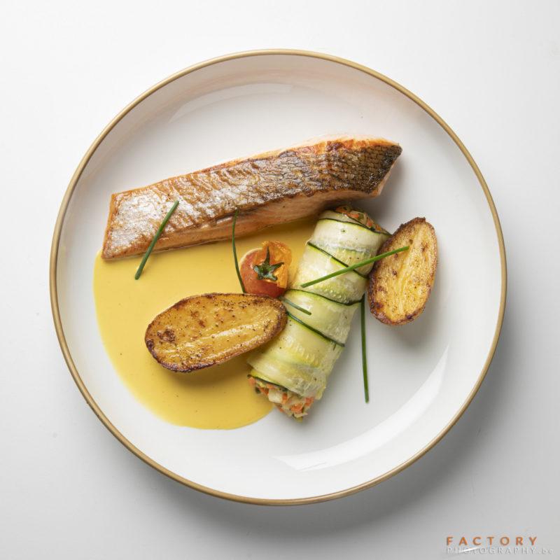 gardens of aromates-saumon - traiteur aromate - huwelijk mariage feestzaal salle de mariage